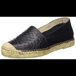 EUC Selected Femme Ostrich Leather Espadrilles